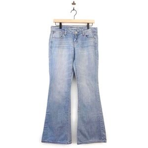 American Eagle Real Flare Jeans 4R Light Wash